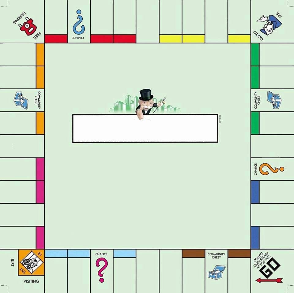 Monopoly Board Template New Empty Monopoly Board School Pinterest
