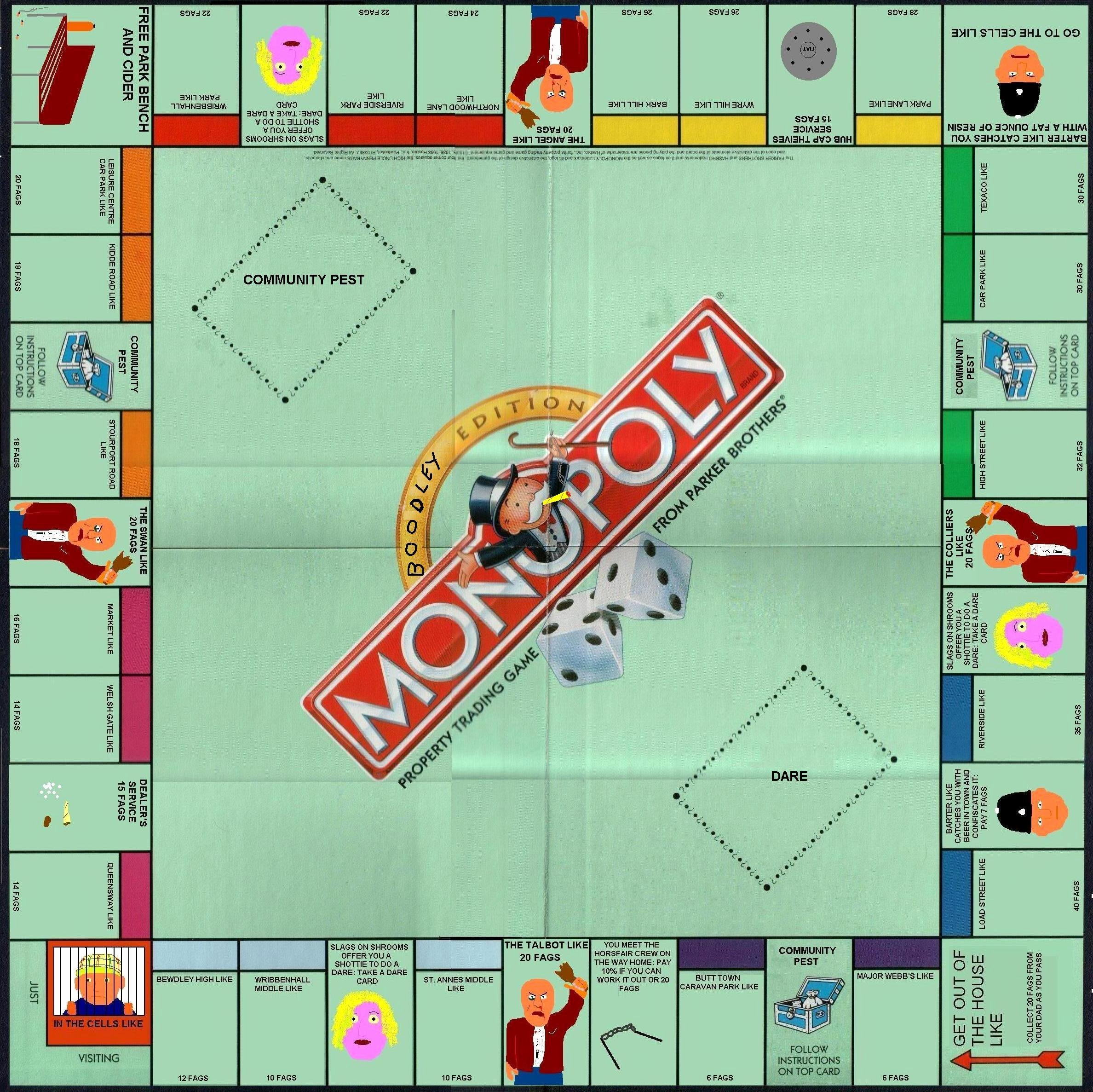 Monopoly Game Board Layout Beautiful Monopoly