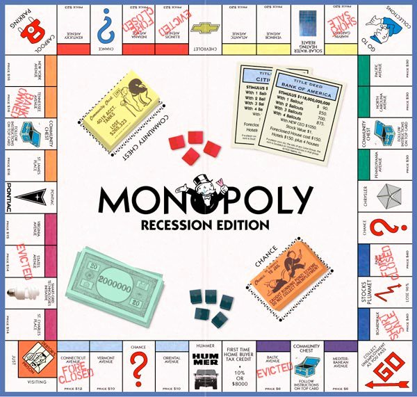 Monopoly Game Board Layout Best Of Monopoly Recession Edition the Awesomer