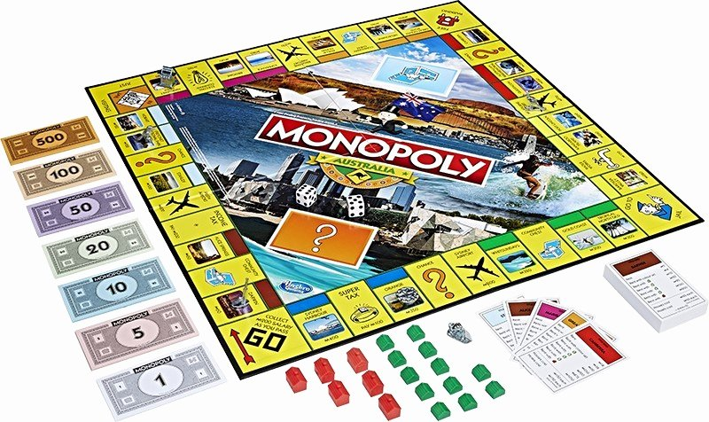 Monopoly Game Board Layout Luxury Monopoly Australian Edition Board Game