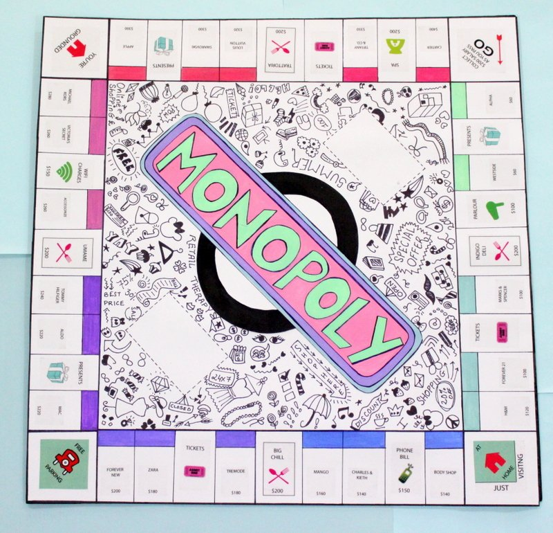 Monopoly Game Template Beautiful Diy Personalised Monopoly Board Game