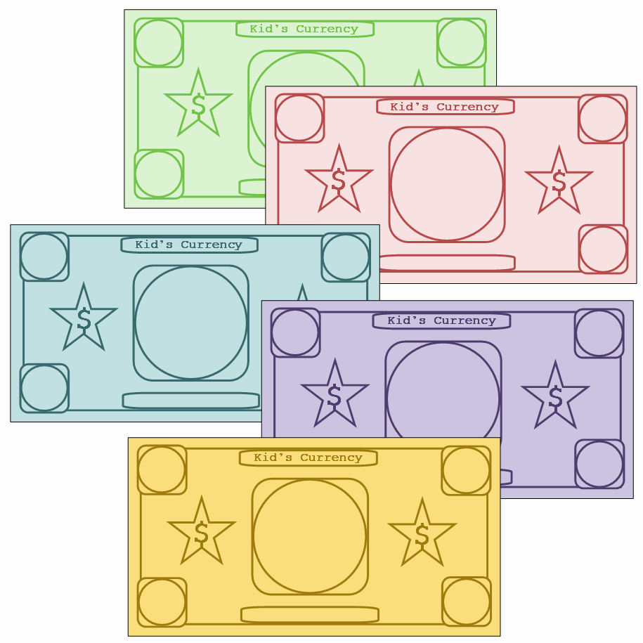 Monopoly Money Template Word Beautiful Play Money to Customize Printables Pinterest