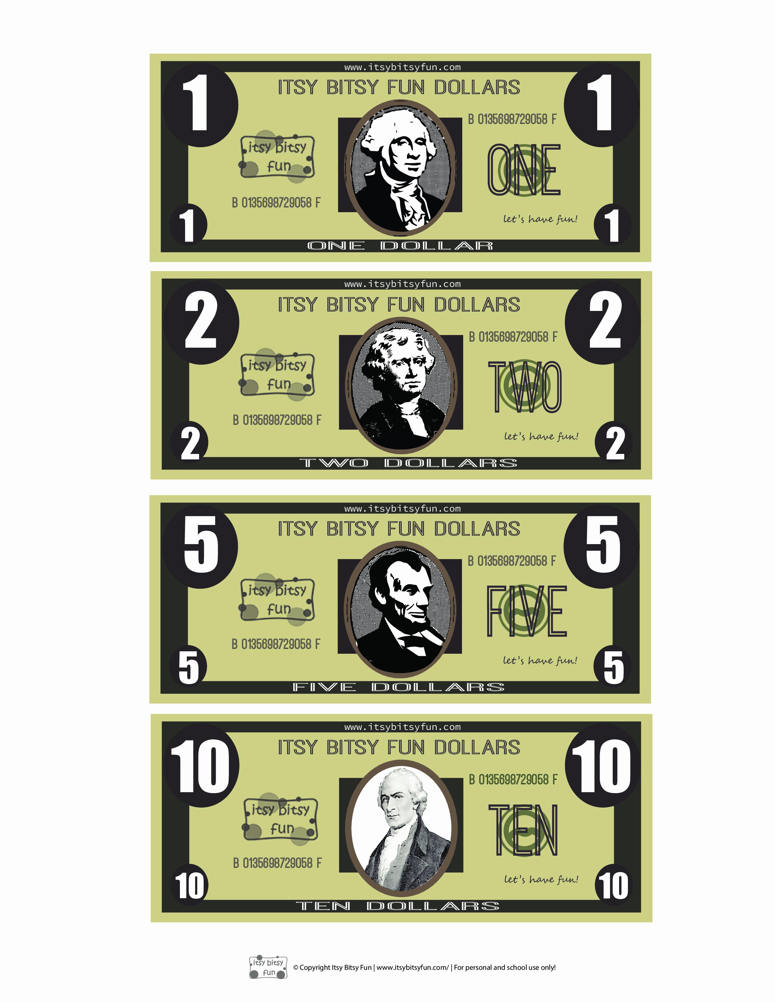 Monopoly Money Template Word Fresh Free Printable Play Money Template