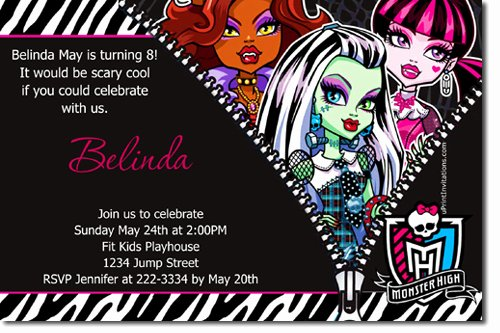 Monster High Invitations Templates Awesome 40th Birthday Ideas Birthday Invitation Templates Monster