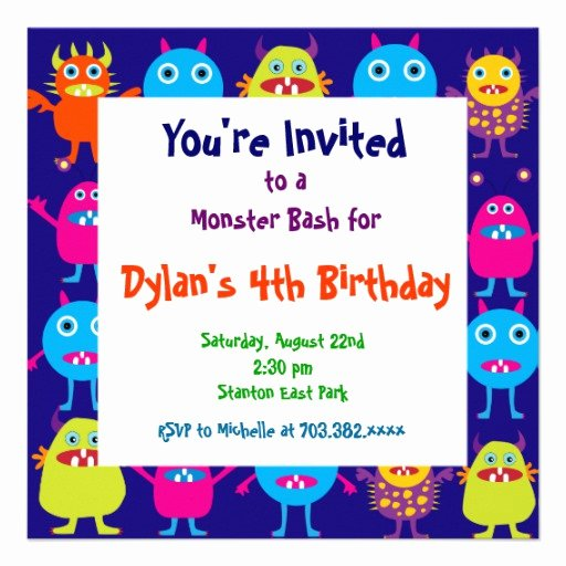 Monster High Invitations Templates Awesome Cute Monster Birthday Party Invitation Templates 5 25