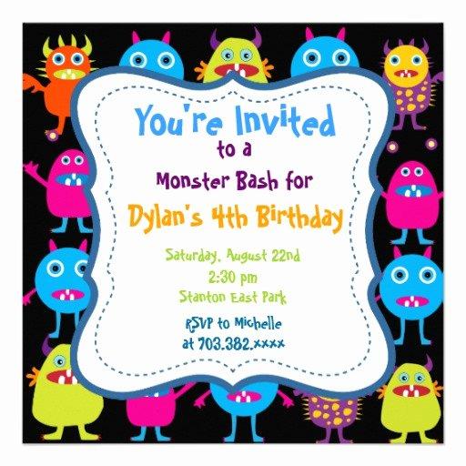 Monster High Invitations Templates Beautiful Cute Monster Birthday Party Invitation Templates 5 25