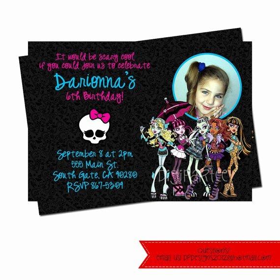 Monster High Invitations Templates Best Of Monster High Birthday Invitation Wording