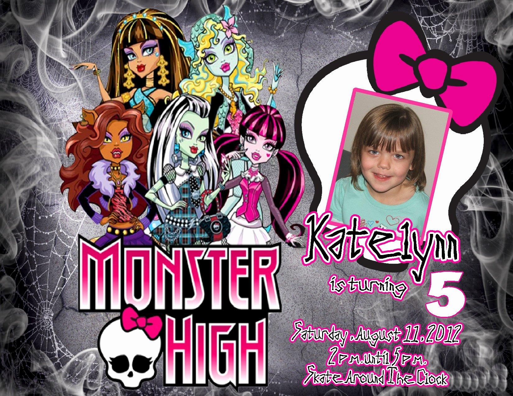 Monster High Invitations Templates Elegant All Gang Monster High Ideas – Free Printable Birthday