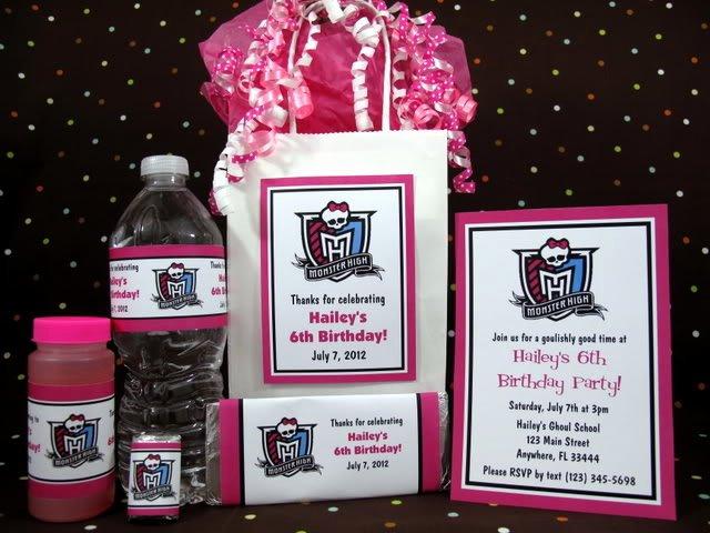 Monster High Invitations Templates Fresh Monster High Birthday Logo Pdf Cd W Invitations Favors