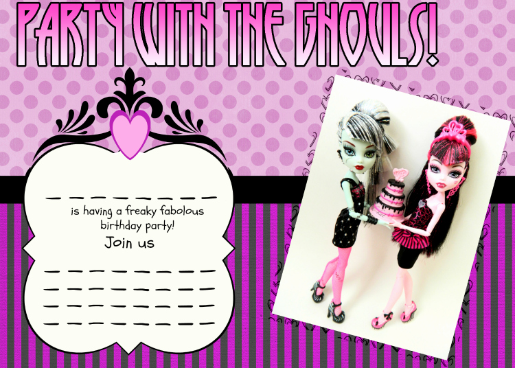 Monster High Invitations Templates Inspirational Free Printable Birthday Party Invitations Templates