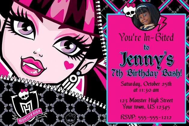 Monster High Invitations Templates Inspirational Monster High Birthday Invitations Ideas – Bagvania Free