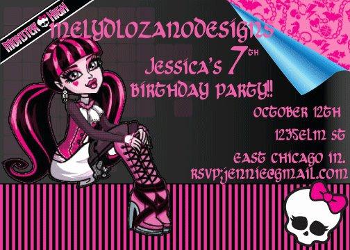 Monster High Invitations Templates Inspirational Monster High Birthday Invitations Ideas – Free Printable