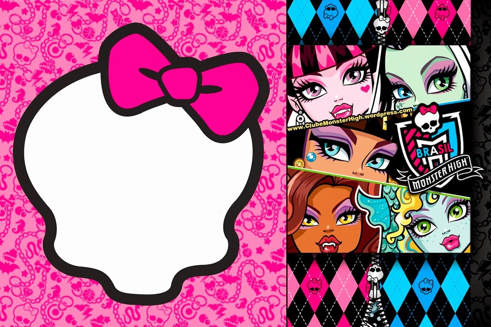 Monster High Invitations Templates Luxury Monster High Invitations On Pinterest