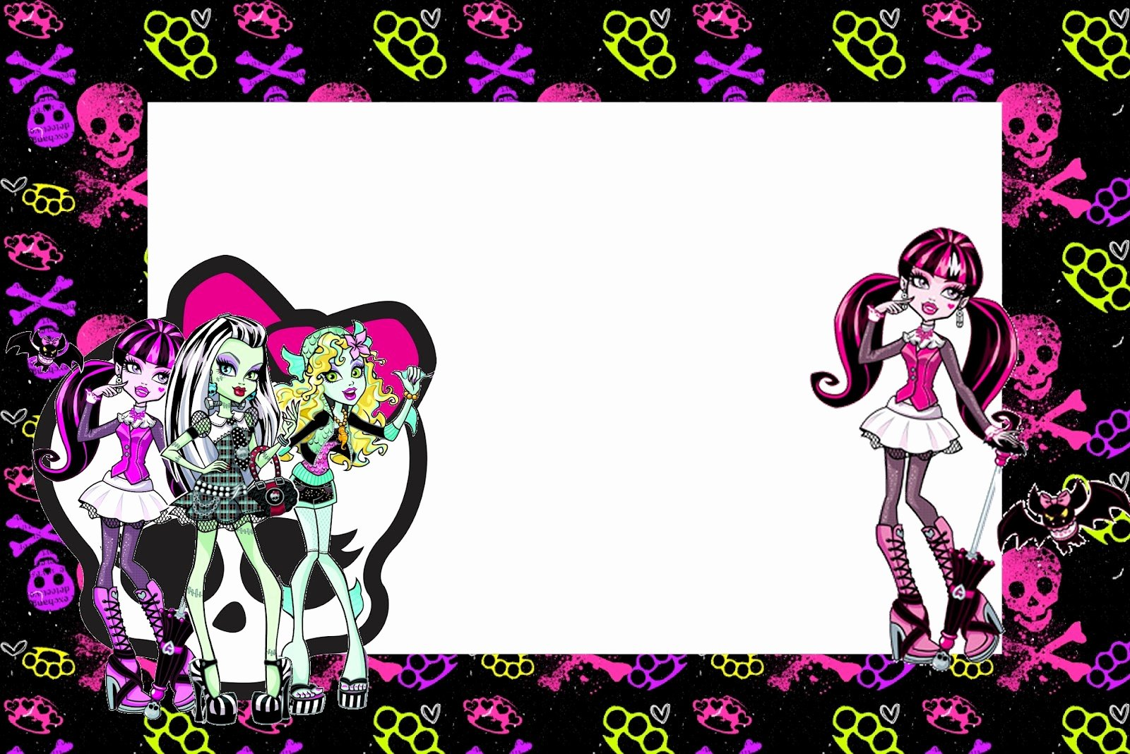 Monster High Invitations Templates New Monster High Free Printable Party Invitations