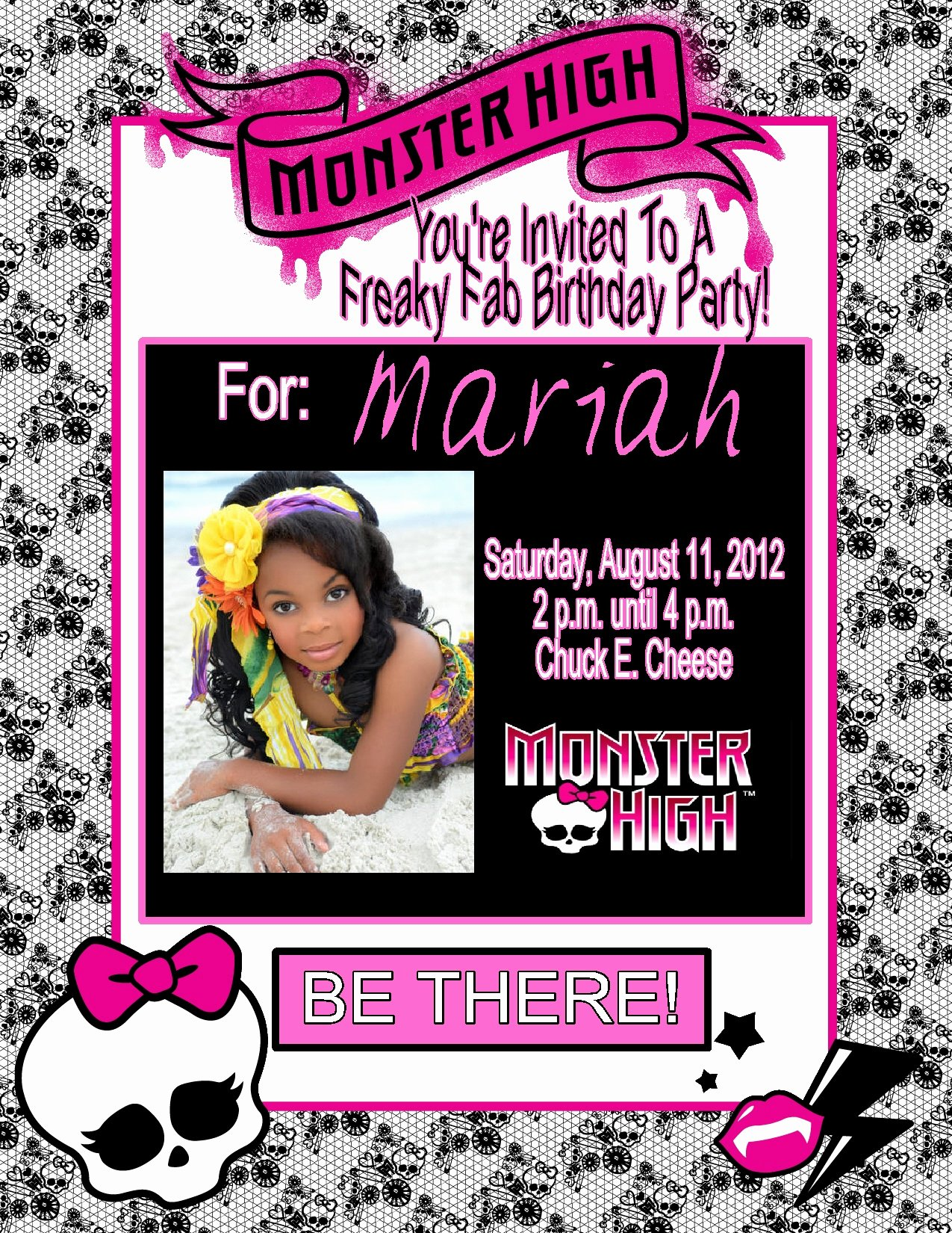 Monster High Invitations Templates New Monster High Personalized Birthday Invitations $1