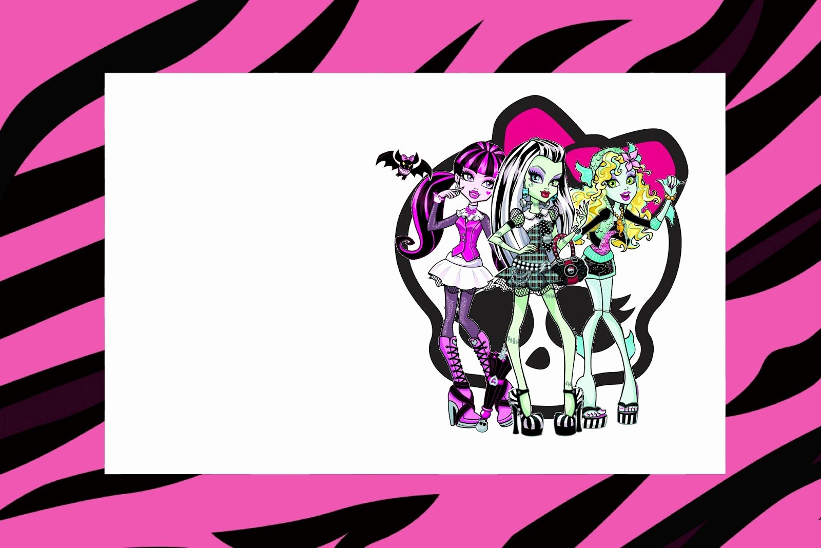 Monster High Invitations Templates Unique Monster High Free Printable Party Invitations