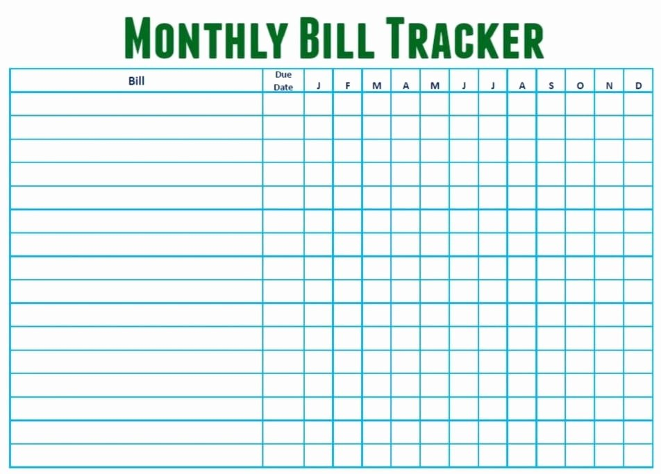 Monthly Bill Tracker Excel Beautiful 6 Monthly Bill Trackers Word Excel Templates