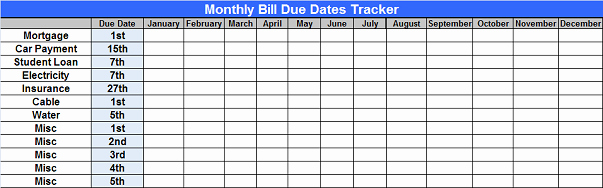 Monthly Bill Tracker Excel Beautiful Free Excel Personal Finance Spreadsheet Program – Trees