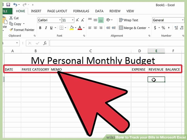Monthly Bill Tracker Excel Lovely How to Track Your Bills In Microsoft Excel 13 Steps