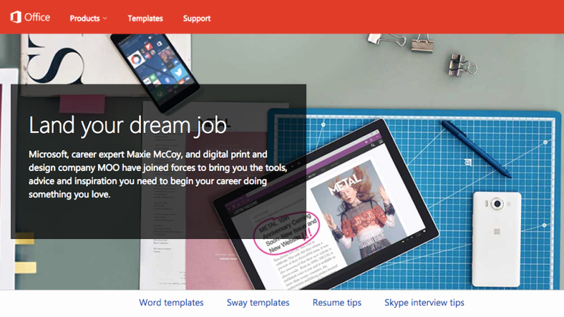 Moo Resume Templates Beautiful Microsoft Dream Job Helps You Design Resumes and
