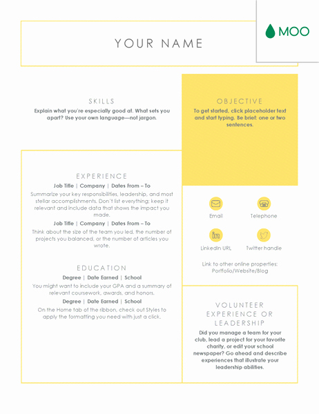 Moo Resume Templates Fresh Crisp and Clean Resume Designed by Moo Fice Templates