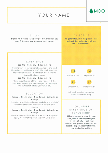 Moo Resume Templates Luxury Crisp and Clean Cv Designed by Moo Fice Templates