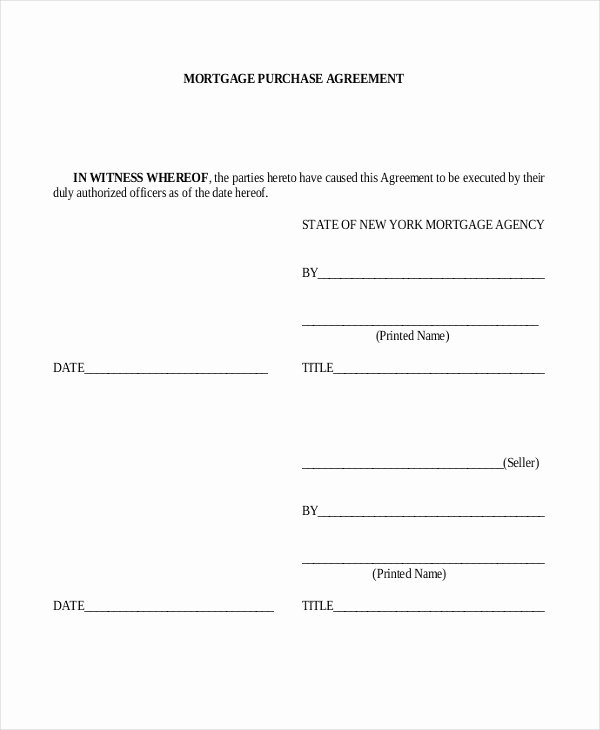 Mortgage Buyout Agreement Best Of 11 Sample Purchase Agreement forms Word Pdf Pages