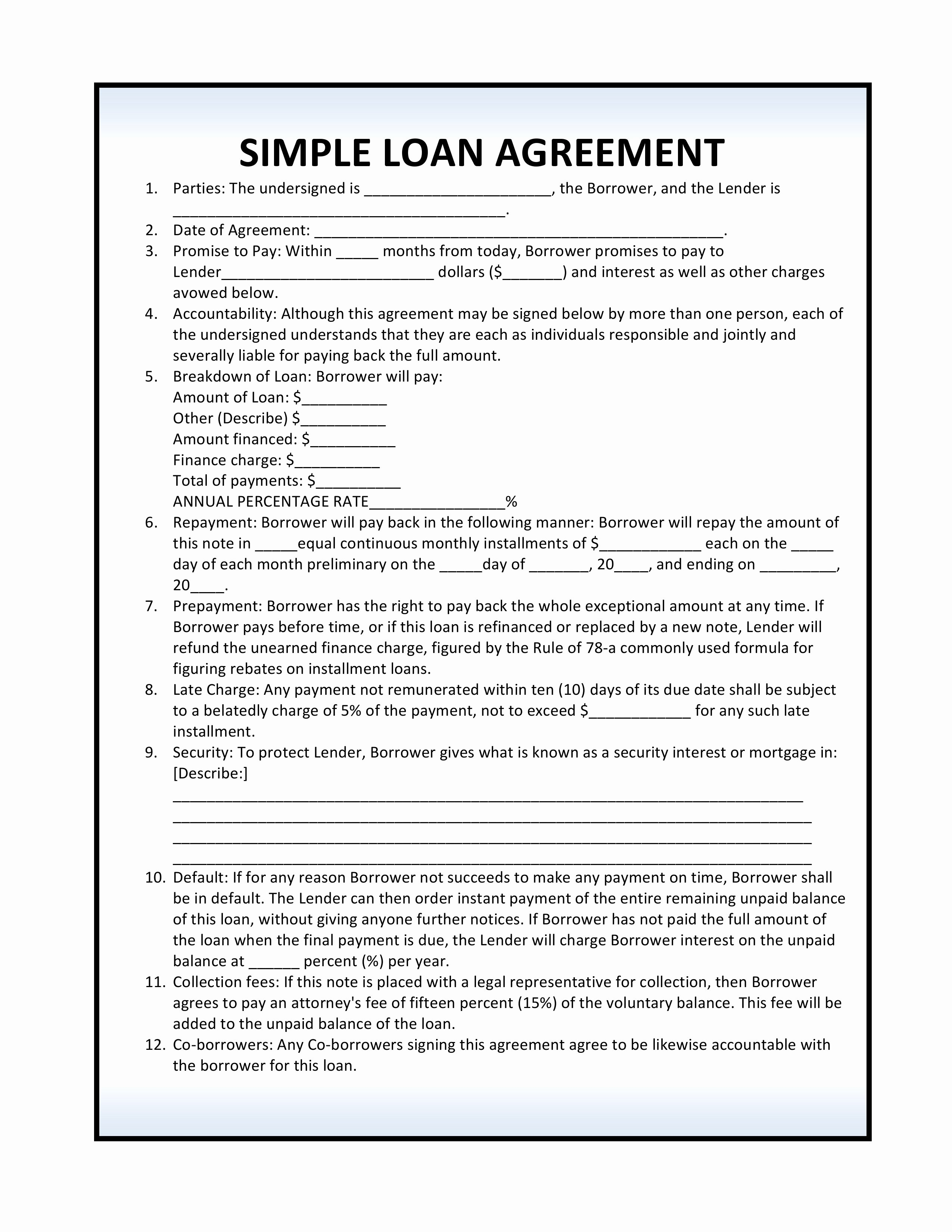 Mortgage Buyout Agreement Best Of Loan Agreement Pdf
