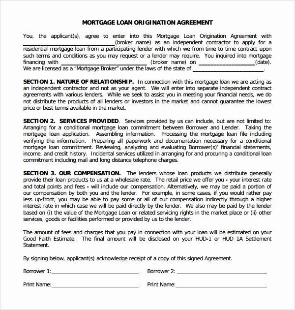 Mortgage Buyout Agreement Elegant 11 Mortgage Agreement Templates