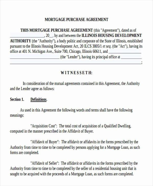 Mortgage Buyout Agreement Elegant 20 Loan Agreement formats