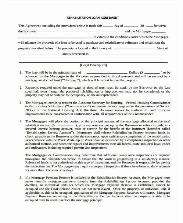 Mortgage Buyout Agreement Lovely 40 Printable Loan Agreement forms