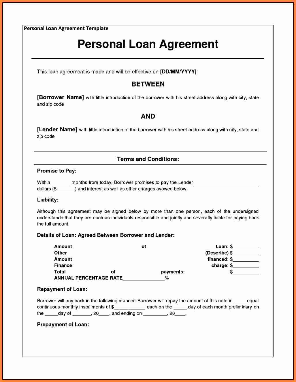Mortgage Buyout Agreement New 5 Example Of A Loan Agreement Between Friends