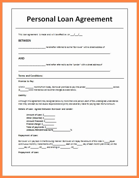 Mortgage Buyout Agreement Unique 5 Sample Loan Agreement Letter Between Friends