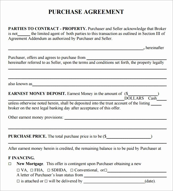 Mortgage Buyout Agreement Unique Purchase Agreement 15 Download Free Documents In Pdf Word