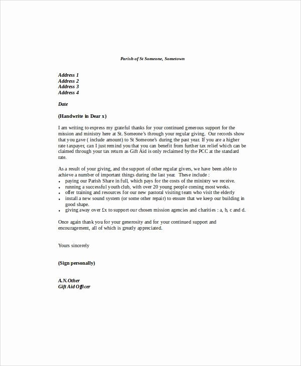 Mortgage Gift Letter Template Beautiful Sample Gift Letters 45 Examples In Pdf Word