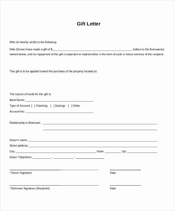 Mortgage Gift Letter Template Elegant Mortgage Gift Letter Template the Reasons why We Love