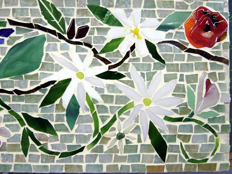 Mosaic Flower Designs Awesome Mosaic Border Tiles In Floral Motif