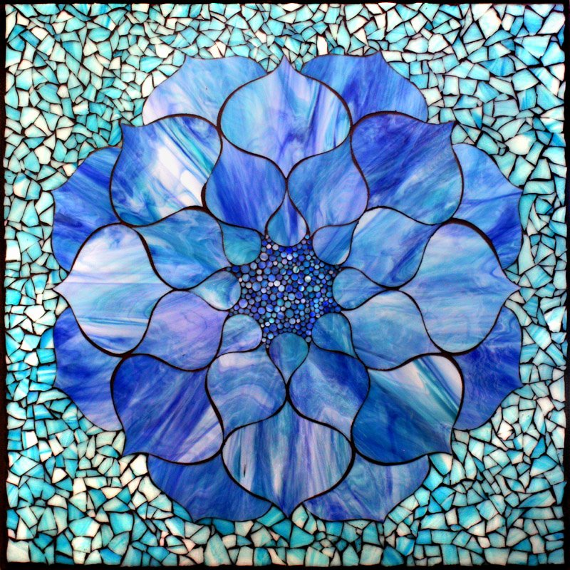 Mosaic Flower Designs Beautiful Stained Glass Decogel Lotus Flower