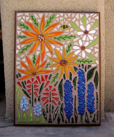 Mosaic Flower Designs Elegant Garden Flowers Mosaic