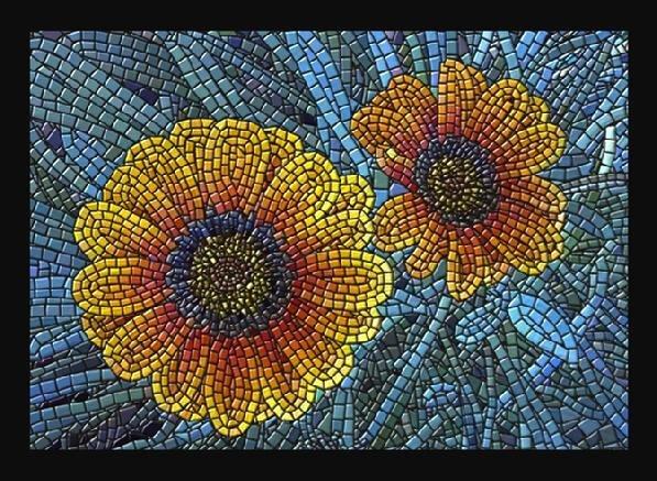 Mosaic Flower Designs Elegant Mosaic Flowers