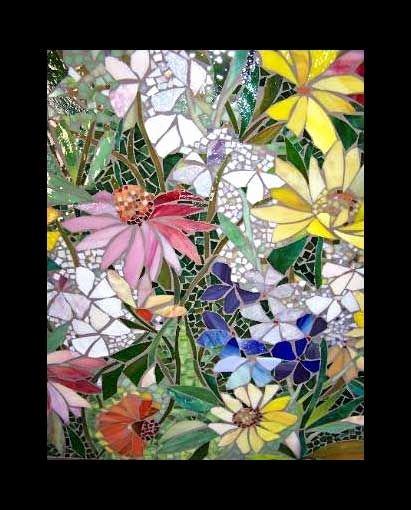 Mosaic Flower Designs Elegant Mosaic Flowers On Pinterest