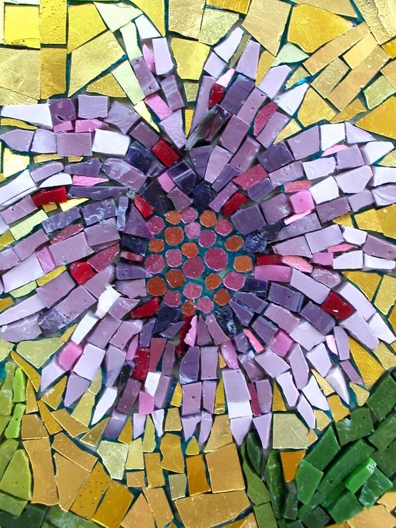 Mosaic Flower Designs Lovely Purple Flower Mosaics