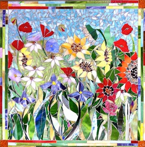 Mosaic Flower Designs Luxury Flower Mosaics Mosaics