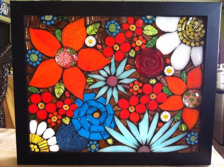 Mosaic Flower Designs Unique 17 Best Images About Flower Mosaic Ideas On Pinterest