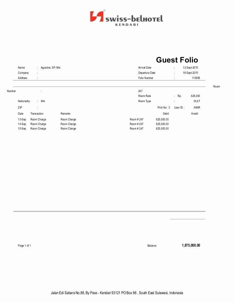 Motel 6 Receipt Template Fresh Agus Tl Na