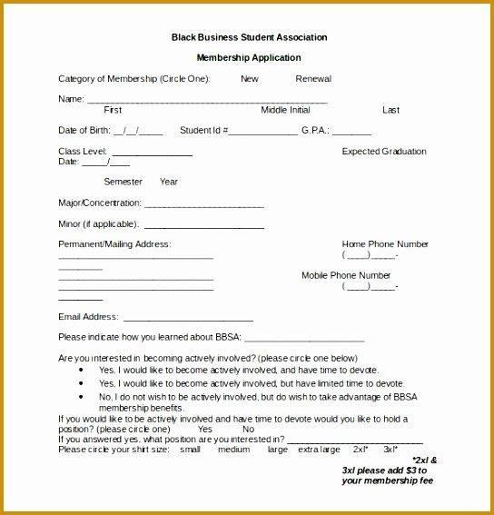 Motorcycle Club Application form Elegant 4 Gym Admission form