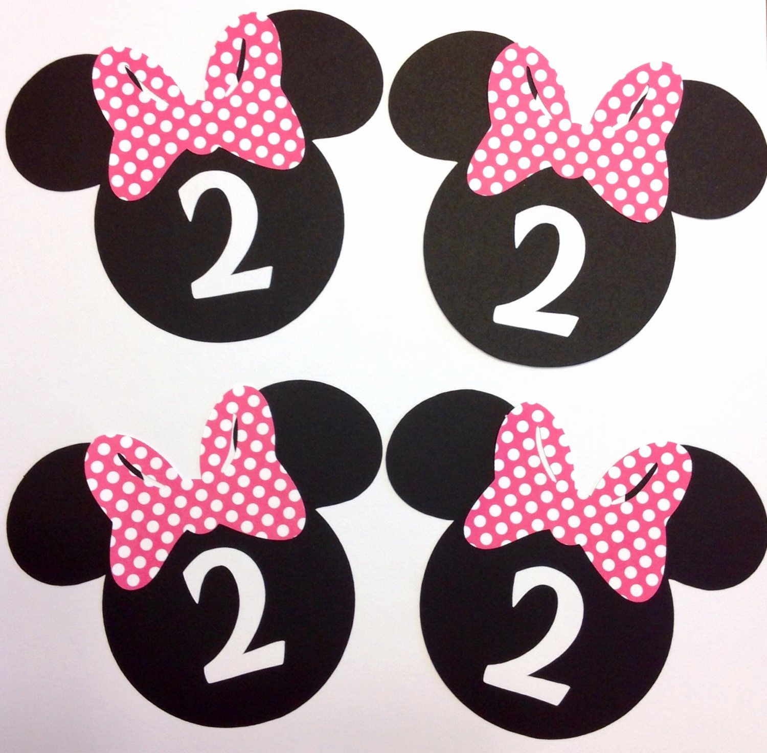 Mouse Cut Out Awesome Minnie Mouse Head Cut Outs Die Cut Customized with Age Set Of