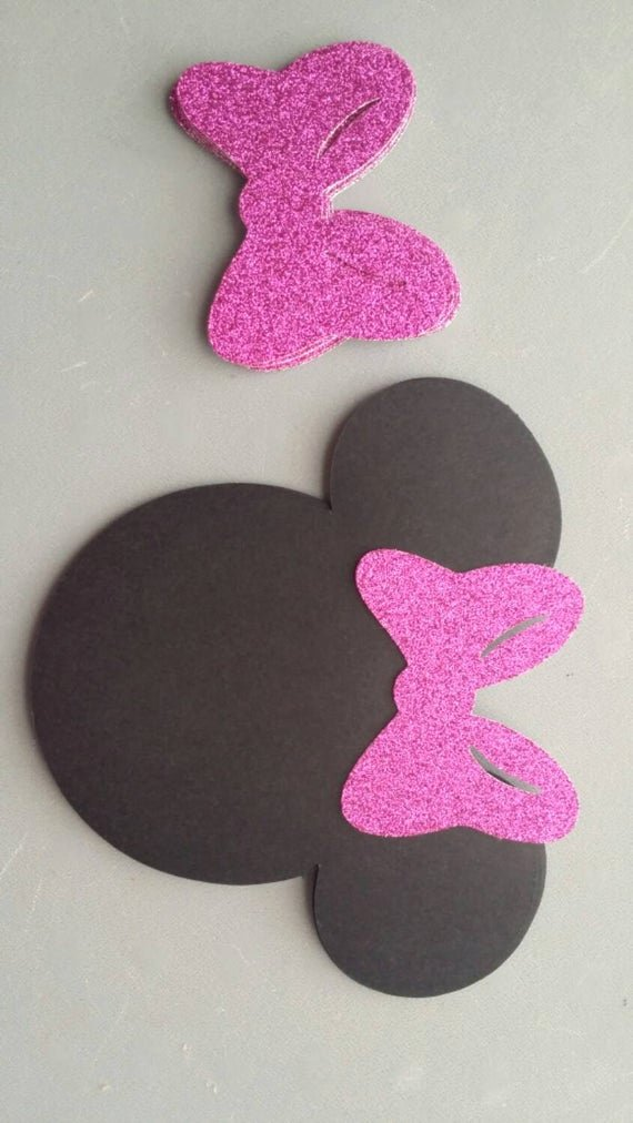 Mouse Cut Out Inspirational 10 Sets Minnie Mouse Head Silhouette Cut Outs with Glitter