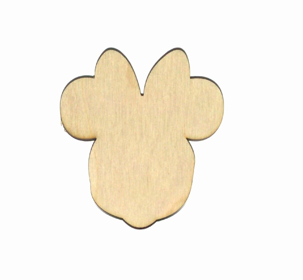 Mouse Cut Out Lovely Minnie Mouse Unfinished Wood Shape Cut Out Mm1605 Crafts