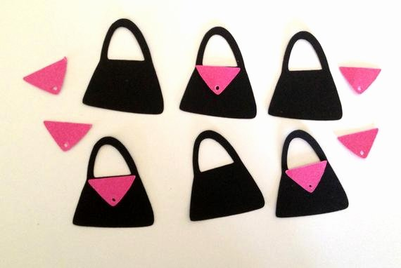 Mouse Cut Out Luxury Minnie Mouse Purse Cut Outs Pink Black or Pink White Diy